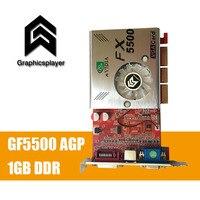 100 NEW 256MB DDR 128Bit GF5500 AGP PC Graphics Card Placa De Video Carte Graphique Video