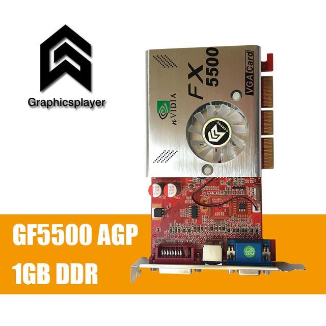 100 NEW 256MB DDR 128Bit GF5500 AGP PC Graphics Card Placa De Video Carte Graphique