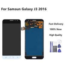 White Color For Samsung J3 2016 lcd For Galaxy j3 2016 Screen J320F J320M J320H J320FN Touch Screen Digitizer +Free Tools цена и фото