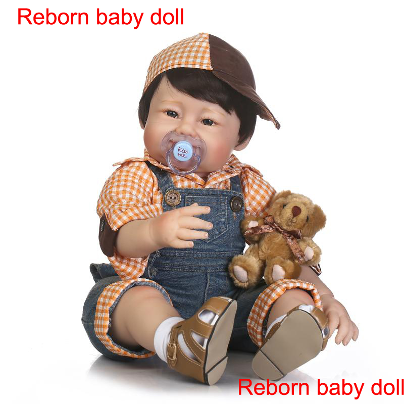 22 Quot 55cm Reborn Babies Dolls Real Fake Baby Doll Silicone