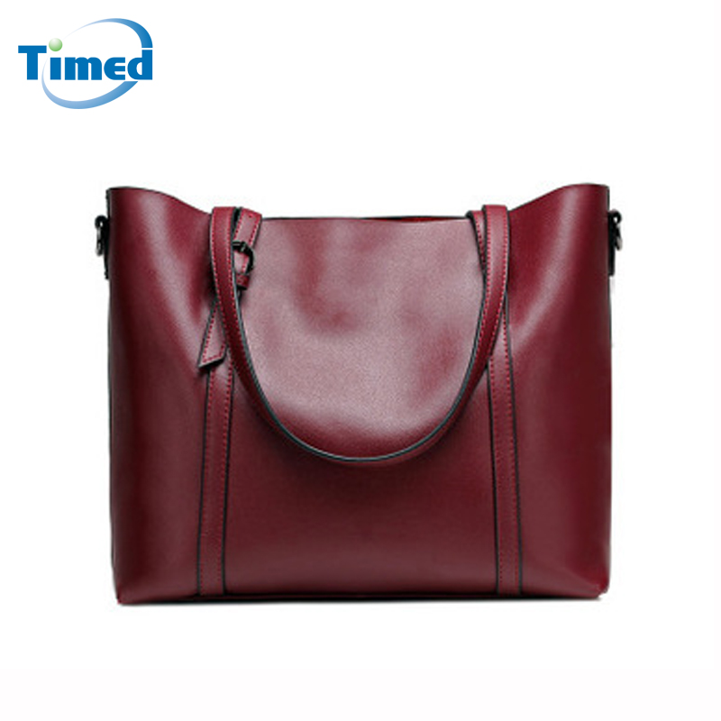 2018 New Genuine Leather Women Handbags Europe Style Brand Shoulder Bag Fashion Elegant Cow Leather Big Totes For Lady 2017 new style pu leather handbag women fashion handbags lady s brand shoulder bag girls casual totes black red coffee xa1796c