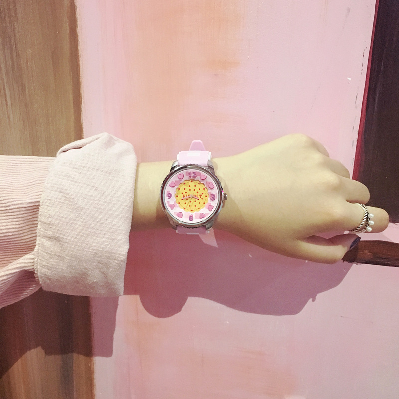 2019 New Fashion Trend Boy Female Table Simple Harajuku Style Color Candy Color Jelly Korean Student Couple Watch