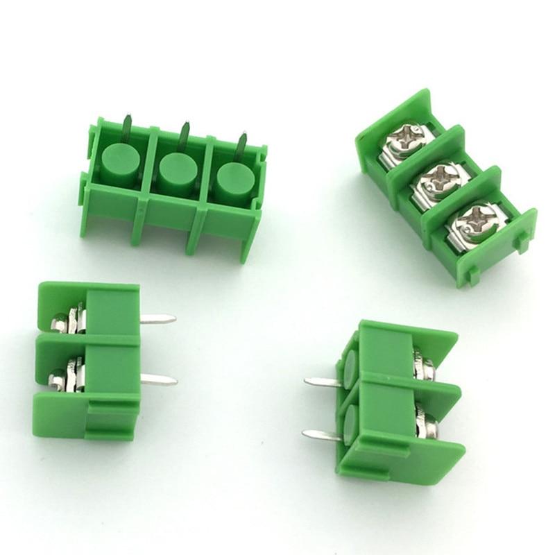 10pcs/lot KF7.62-2P KF7.62-3P 7.62mm pitch connector pcb screw terminal block connector 2 pin 3 pin 300V 20A