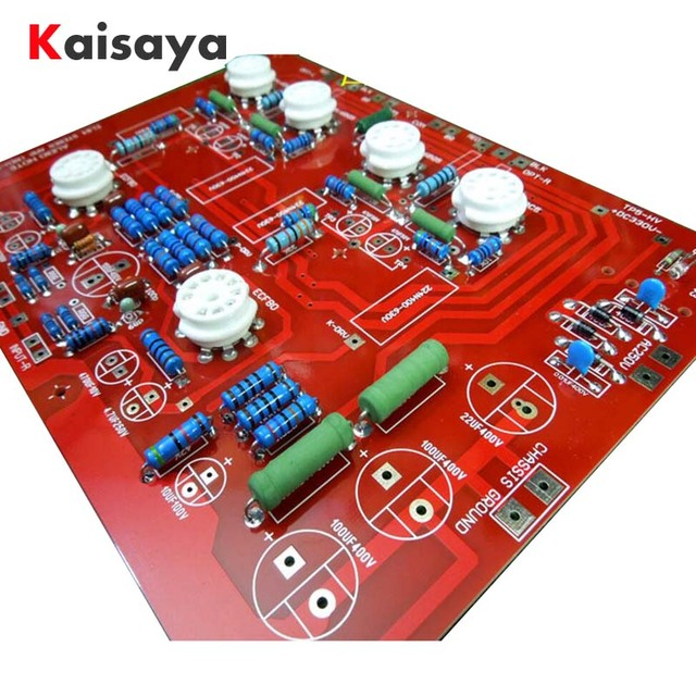US $30 98 29% OFF|Hi End Stereo Push Pull EL84 Vaccum Tube Amplifier PCB  DIY Kit and finished Ref Audio Note PP Board D4 004-in Amplifier from