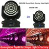 2XLot Free Shipping 36x10W 4IN1 Zoom Led Moving Head Light RGBW 4IN1 DMX512 Led Moving Head