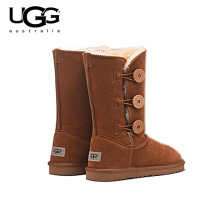 2019 Ugg Boots 1873 Romantic Flower Ugged Women Boots Classic Ugg Snow Boots For Women Genuine Leather Australia Boots Fur Wool