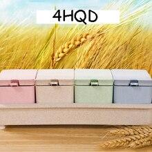 Пшеница оранжевый полюс кухонная приправа коробка набор дома приправа банка бутылка солонка натуральный материал
