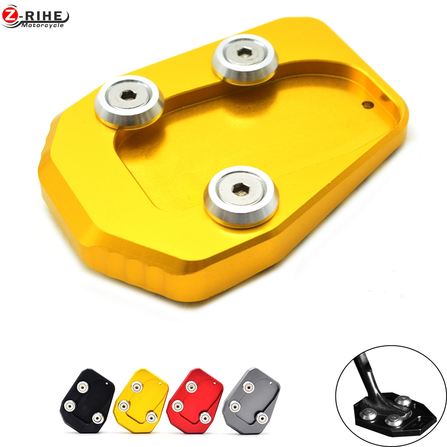 High Quality GOLD Motorcycle CNC Side Stand Enlarge kickstand Plate pad For Yamaha MT-09 MT09 MT 09 2013 2014 2015 2016 12 14 15  for yamaha mt09 mt 09 mt 09 2013 2015 2014 new motorcycle parts kickstand foot side stand enlarge extension pad support plate