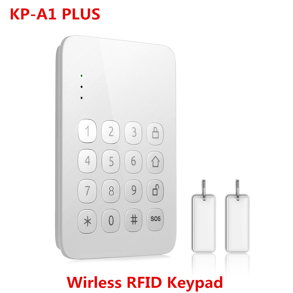 Wireless RFID tag keypad arm/disarm wireless Keypad for N8 Wifi GSM Alarm System secual box v2 etiger wifi alarm system gsm safety alarm system with rfid reading keypad arm disarm alarm system