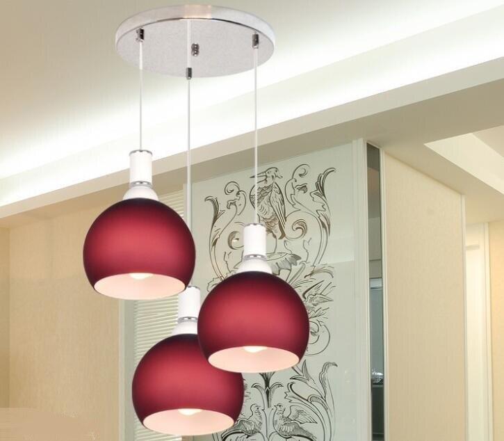 Modern simple fashion dining pendant lamp three dining room dining room table lamp bar lamp FG402
