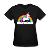 Fabryka Sprzedaż T Shirty Kobiet 2017I'm Magiczne Rainbow UnicornKawaii Król Królowa Kobiety koszulkę Femme Tumblr Rock TeeWoman