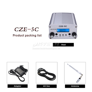 Image 5 - NKTECH CZE 5C PLL FM Transmitter Radio Broadcast Station 1W/5W Stereo Frequency 76 108Mhz Professional Campus Amplifiers Audio