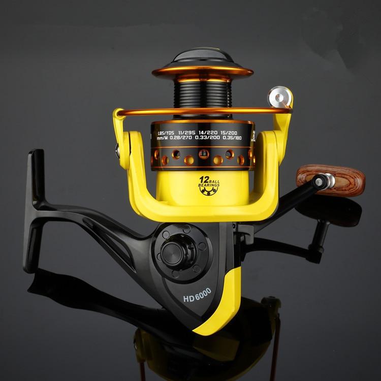 LIEYUWANG Angeln Ree 5,2: 1 12BB HD1000-7000 spinnrolle carpa molinete de pesca roda spinnrad angeln reel