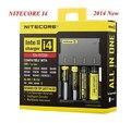 Auténtico Digicharger Display LCD Nitecore I4 cargador de Batería Universal Del Cargador Nitecore i4 VS UM10 Nitecore D4 UM20 zcj14