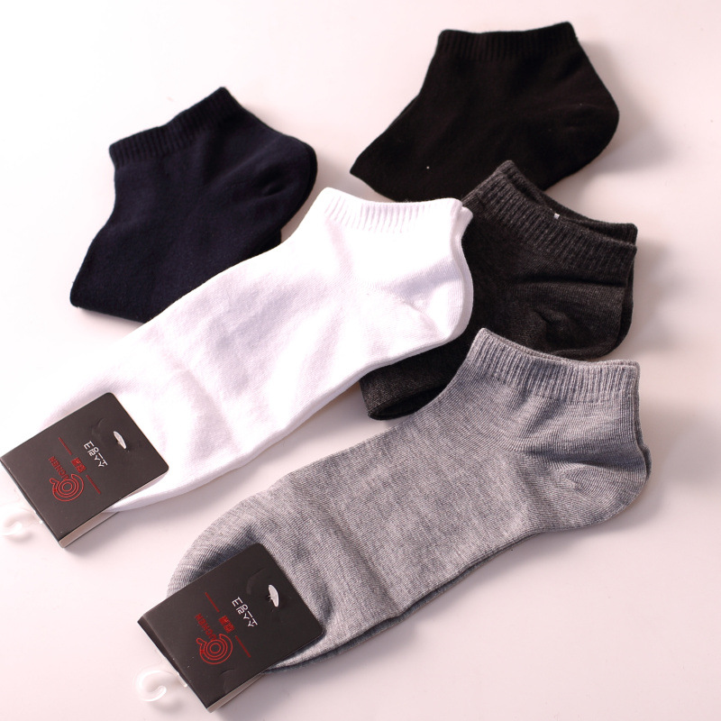 men socks 5 pairs cotton solid color short invisible socks new spring classic high quality men's socks ankle socks men