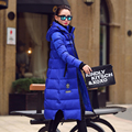 Plus size 2016 New Fashion Women Hooded Coat Winter Duck Down Jacket Coat Long Jackets and Coats Famale Outerwear Mujer DX661