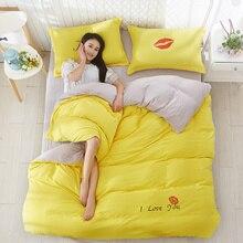 New Fashion Bedding Set 4pcs/3pcs Duvet Cover Sets Soft Polyester Bed Linen Flat Sheet Pillowcase Home Textile Drop Ship