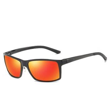 Aluminum Magnesium Frame Goggle Polarized Sunglasses Men UV400 Sun Glasses Women Mirror Sports gafas de sol With Box
