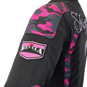 Image 5 - BENKIA Motorcycle Jacket Women Breathable Mesh Racing Riding Moto Jacket Vintage Retro Casual Motorbike Jacket Motocross Jacket