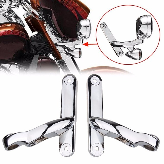 4.5 Inch Fog Light Housing Bracket Auxiliary Lighting Brackets Frame for Harley '97~'13 Electra Glide and '94-later Road King