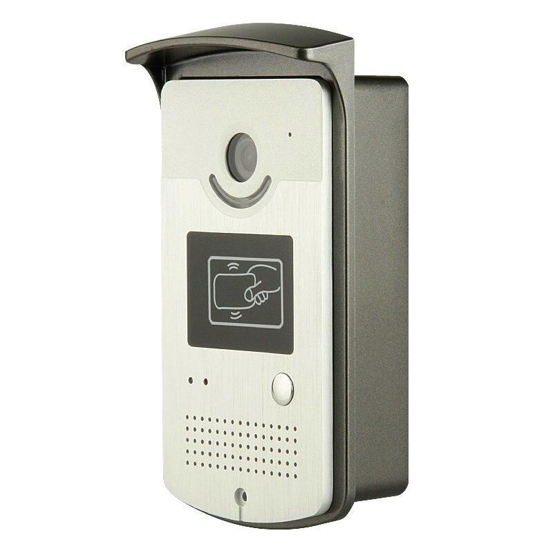 IL TRASPORTO LIBERO 7 Monitor a colori Video Citofono Del Portello Phone System Con 1 Bianco 2 RFID Card Reader HD Campanello 1000TVL Fotocamera - 5