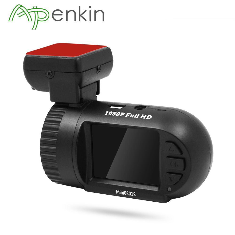 Arpenkin 0801 Upgrade Mini 0801S Car Dash Camera Super Capacitors Video Recorder Dash Cam HD 1080P G-Sensor Motion Detection DVR