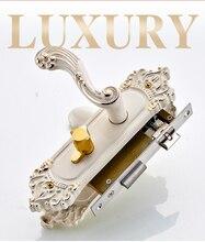 European style door lock indoor solid wood bedroom set on the antique handle handle ivory white lock