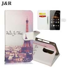Brand J&R For Leagoo M8 Case Luxury Print Phone Protective Mobile Case For Leagoo M 8 Book Flip Cover Wallet PU Leather Bags