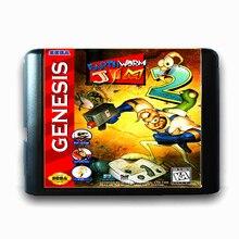 Earth Worm Jim II de 16 bits da Sega MD Cartão de Jogo para o Mega Drive para Genesis