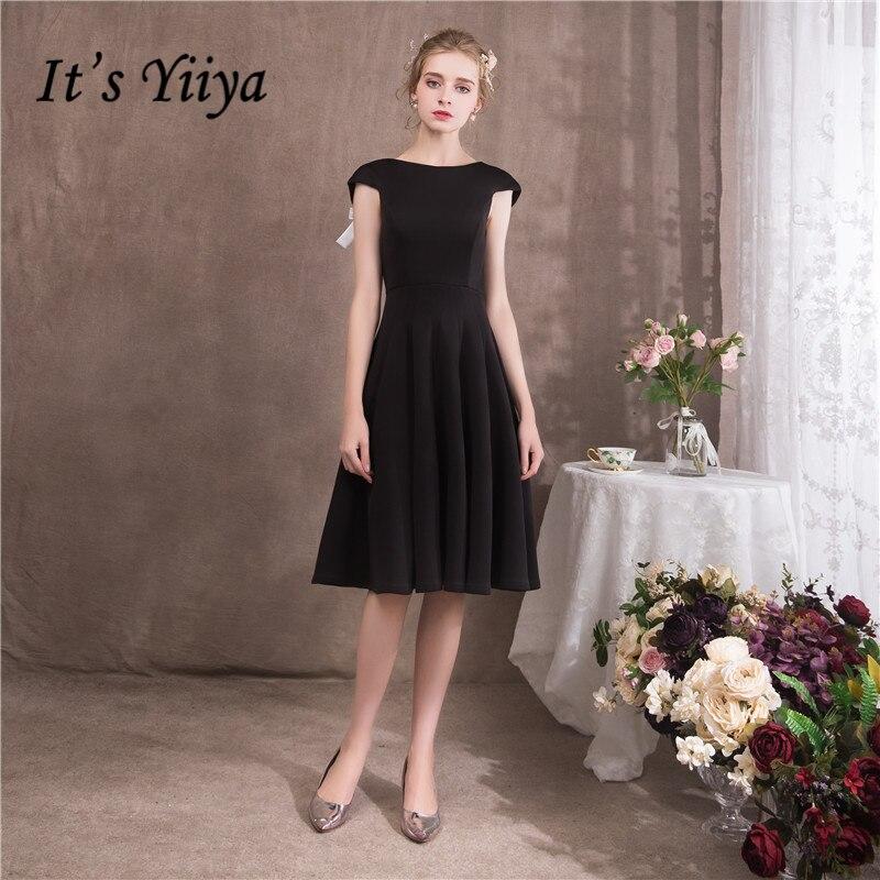 Это YiiYa 2018 с o образным вырезом без рукавов секс спинки Blak коктейльные платья Известный дизайнер лук простой маленьких Платье черного цвета