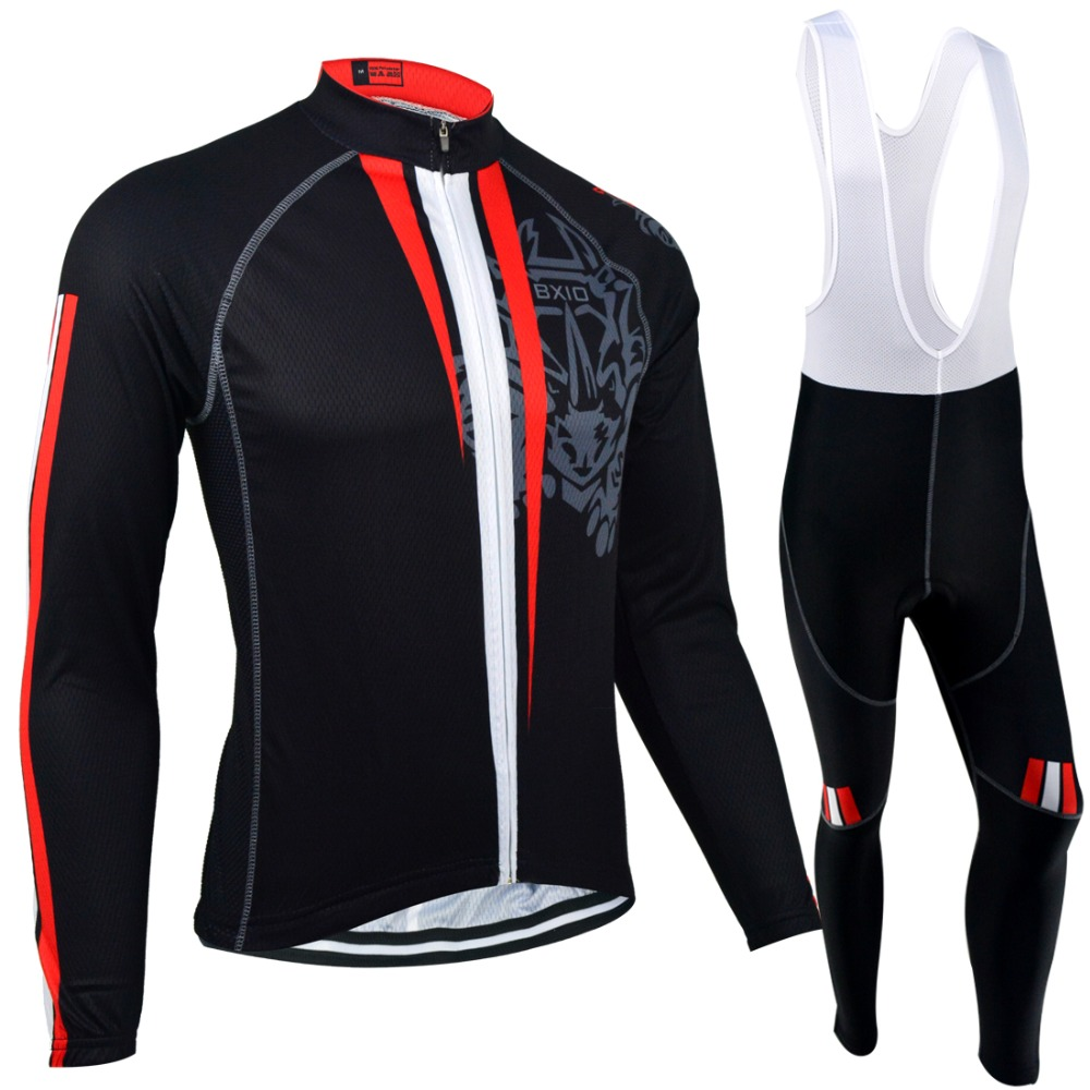 ФОТО BXIO Winter Thermal Fleece Cycling Jersey Top Rate Seamless Stitching Long Sleeves Bicycle Clothing 5D Pad Maillot Ciclismo 130