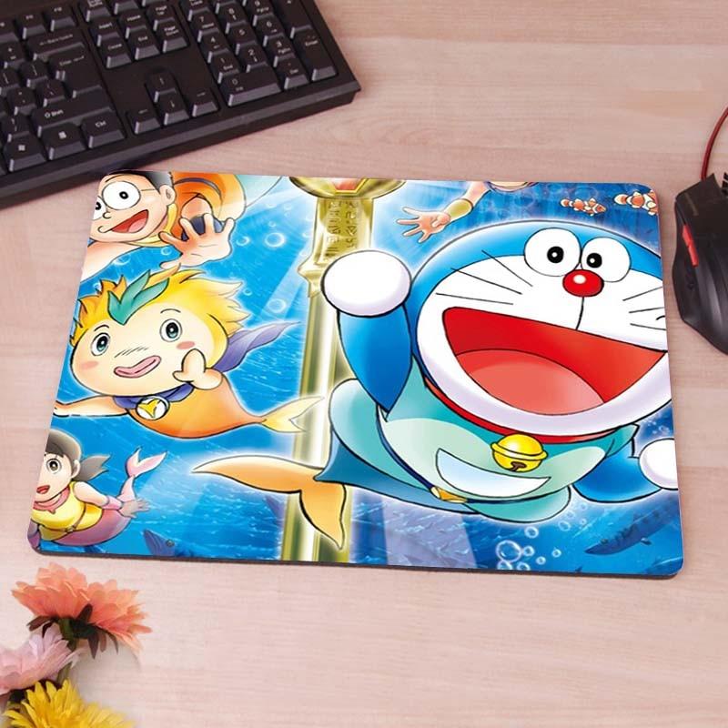 Doraemon Oyun Dikdörtgen Silikon Dayanıklı Mouse Pad Bilgisayar Fare Mat