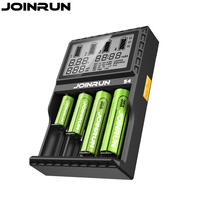 Joinrun S4 18650 Battery Charger With White LCD Screen Smart Charger Li Ion AAA AA 12V