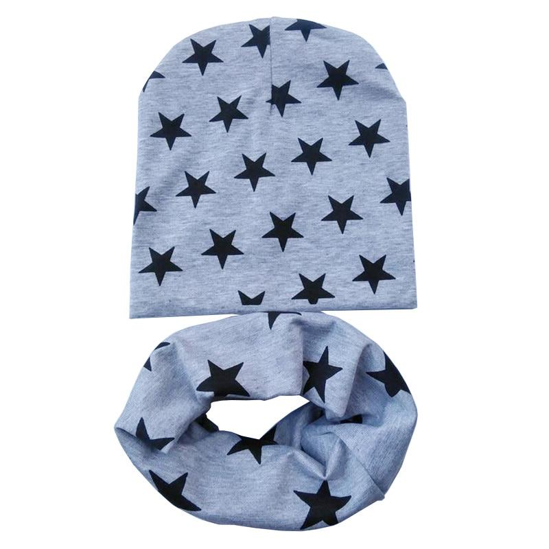 grey stars hat scarves