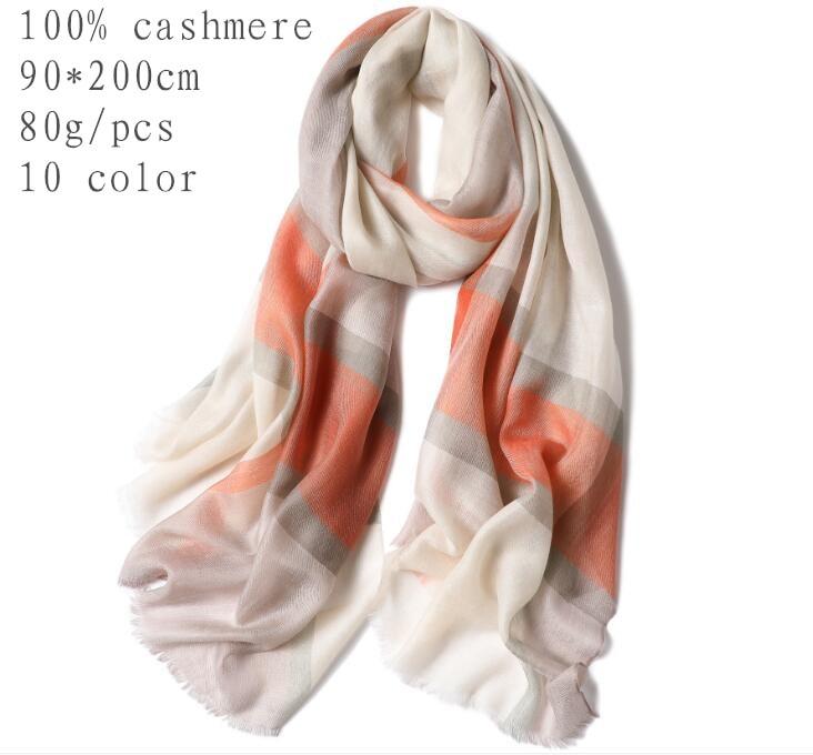 Naizaiga 100 cashmere plaid print women shawl spring thin fashion pashmina luxury autumn scarf MWYR7