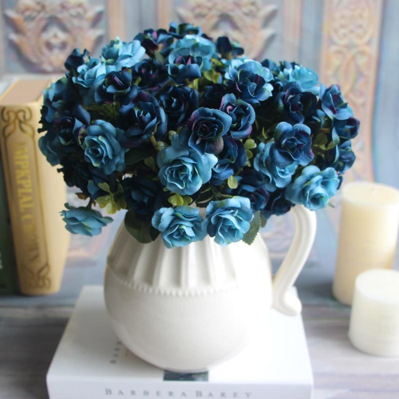 Austin 15 Heads Autumn Fake Silk Flowers Artificial Rose Wedding