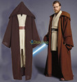 Christmas Star Wars Obi Wan Kenobi Cosplay Costume Halloween TUNIC Jedi Knight Hooded Cloak Robe Whole Set Uniform for Adult Men
