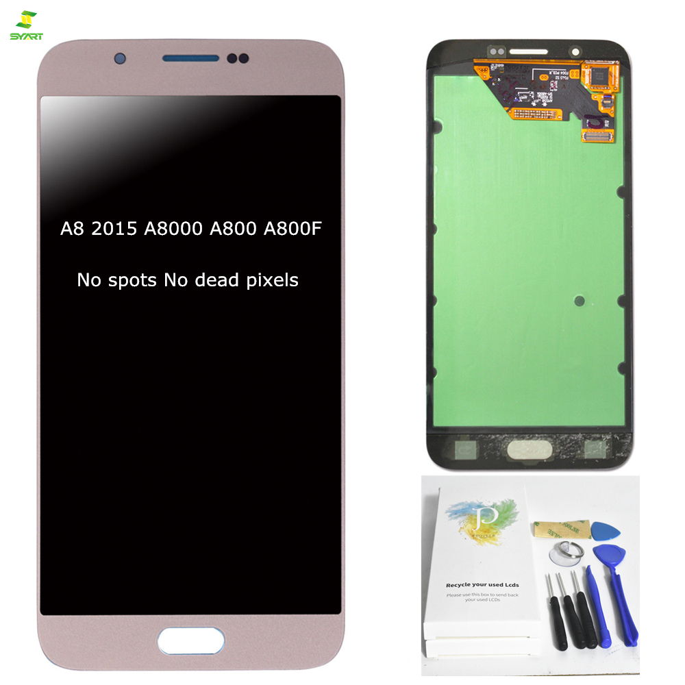 A8 A8000 A800 2015 Originale 5.7 ''Per Samsung A8 2015 A8000 A800 A800F LCD Full Display Touch Screen Digitizer montaggio Nero
