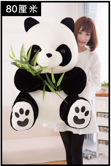 huge lovely panda toy plush sitting panda doll birthday gift about 80cm largest size 95cm panda plush toy cute expression panda doll birthday gift w9698