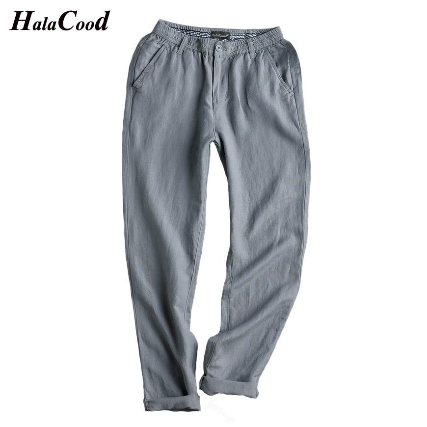Pantalones casuales de lino de algodón de sección delgada de verano para hombres de gran tamaño pantalones de gordo.-in Pantalones casuales from Ropa de hombre    3