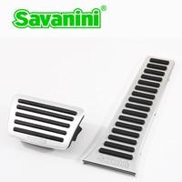 Savanini Accelerator Gas Freio pedal pad nenhuma perfuração para Hyundai Sonata/Santafé e KIA K5/Sorento/Sportage auto carro de alumínio