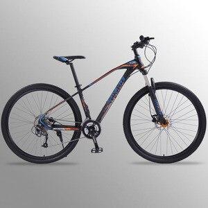 Image 1 - Wolfs fang bicicleta de montanha, freios a disco duplo 27 velocidades 29 Polegada, liga de alumínio para bicicleta mtb bmx de frete grátis