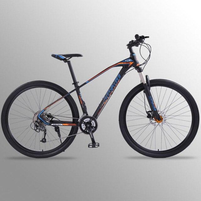 Wolfs fang bicicleta de montanha, freios a disco duplo 27 velocidades 29 Polegada, liga de alumínio para bicicleta mtb bmx de frete grátis