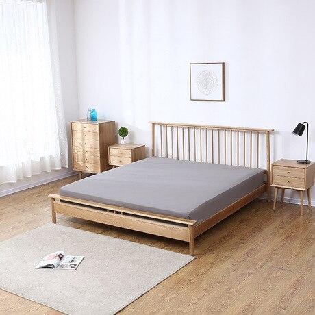 Bedroom Furniture Home Furniture Apprehensive Home Bed Bedroom Furniture Home Furniture White Oak Solid Wood Windsor Double Bed King Size Beds 150/180*200cm Camas Modernas