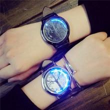 Fashion Creative Personality Tree oF Life Touch Screen Waterproof LED Watch Men Women Couple Watch Smart Electronic Watches