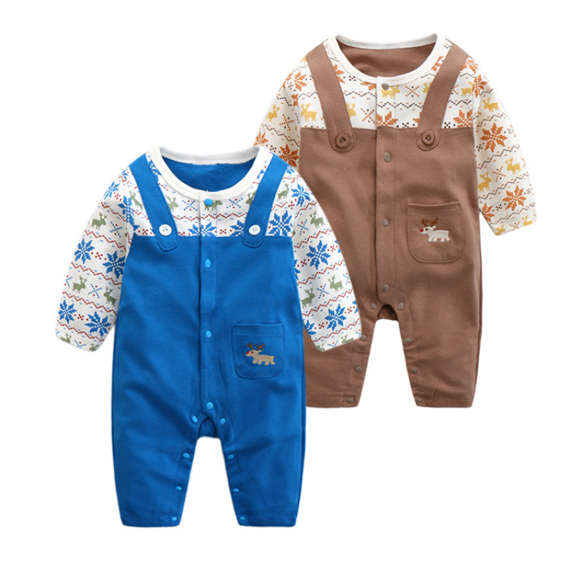 CalaBob 2017 Spring Baby Rompers Baby Boy Girl Jumpsuit High Quality Cotton Overalls Infant Clothing Baby Clothes 0-12M newborn baby rompers baby clothing 100% cotton infant jumpsuit ropa bebe long sleeve girl boys rompers costumes baby romper
