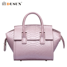 DUSUN Genuine Leather Handbags Luxury Woman Messenger Bag Leather Tote Fashion Brand Design Serpentine Casual Women Handbags