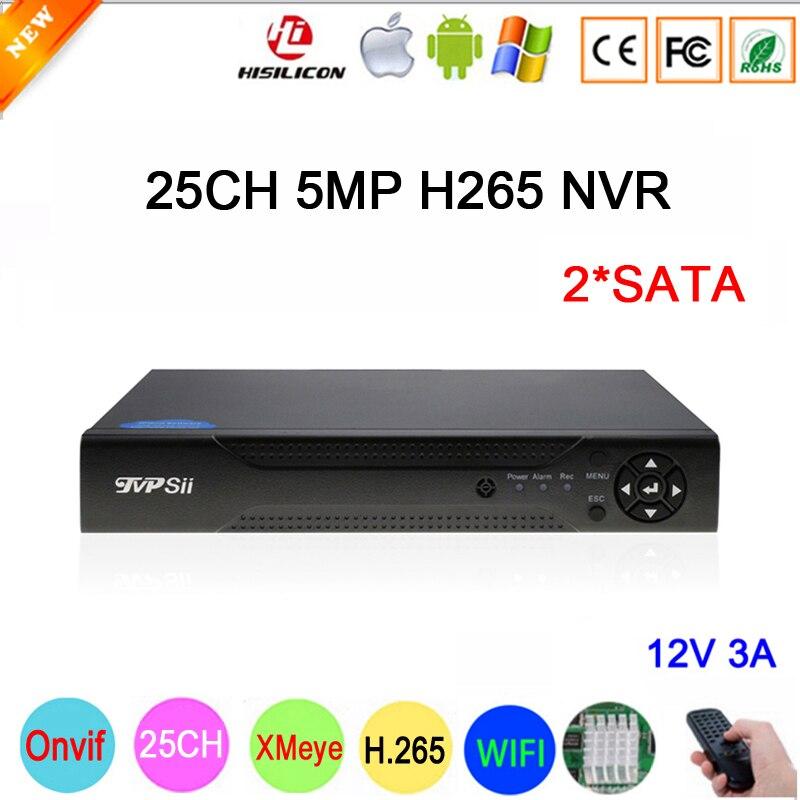 Hi3536C XMeye 8CH*4K/25CH*5MP/32CH*1080P Surveillance Video Recorder 25CH 25 Channel 5MP WIFI Onvif CCTV NVR Free Shipping full hd 1080p h 265 32 channel cctv nvr 25ch 5mp 8ch 4k nvr 2 sata hdd xmeye onvif p2p hdmi vga cctv video recorder 3g wifi