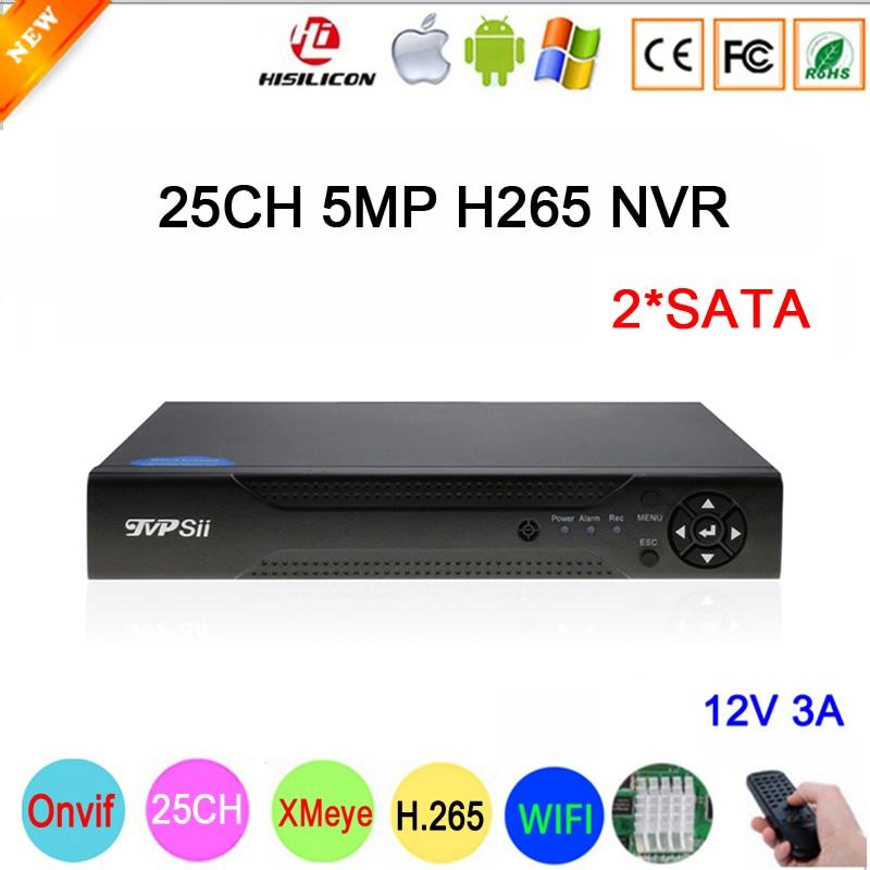Hi3536C XMeye 8CH * 4 k/25CH * 5MP/32CH * 1080 p Surveillance Vidéo Enregistreur 25CH 25 canal 5MP WIFI Onvif CCTV NVR Livraison Gratuite