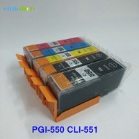 1Set PGI 550 CLI 551 Ink Cartridges For Canon PGI550 CLI551 PIXMA IP7250 MG6350 MG5450 MX925